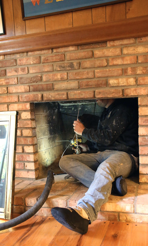 fireplace throat damper installation in Sewanee, TN