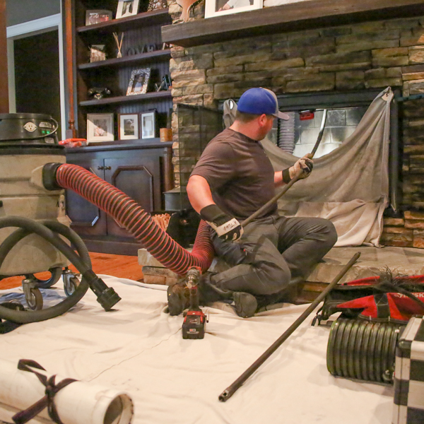 Professional chimney sweep in New Market TN