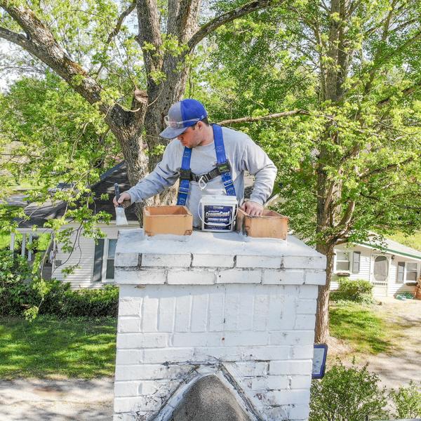 chimney crown repair in Huntsville, AL